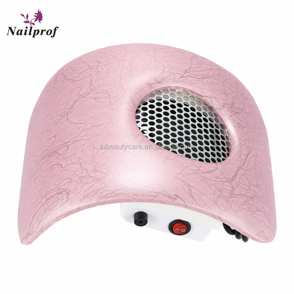 2017 Good Quality Pink Color Electronic Nail Table Dust Collector