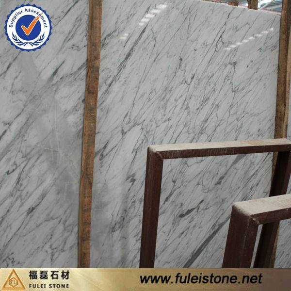 high polished snow white marble