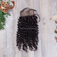 Free Parting Lace Closure 100% Hand Making Swiss Lace
