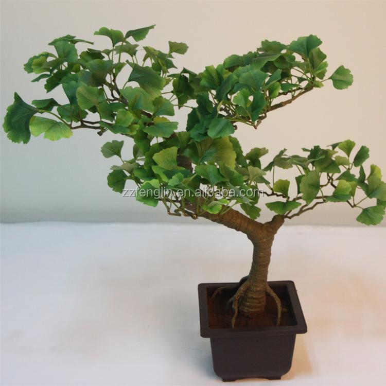 Hot sale mini japanese artificial bonsai tree artificial for Artificial leaves for decoration