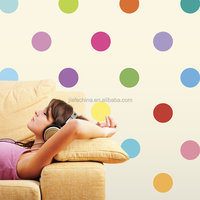 Custom Transparent Cute Wall Decal Wall Stickers Removable Polka Dot Wall Decals