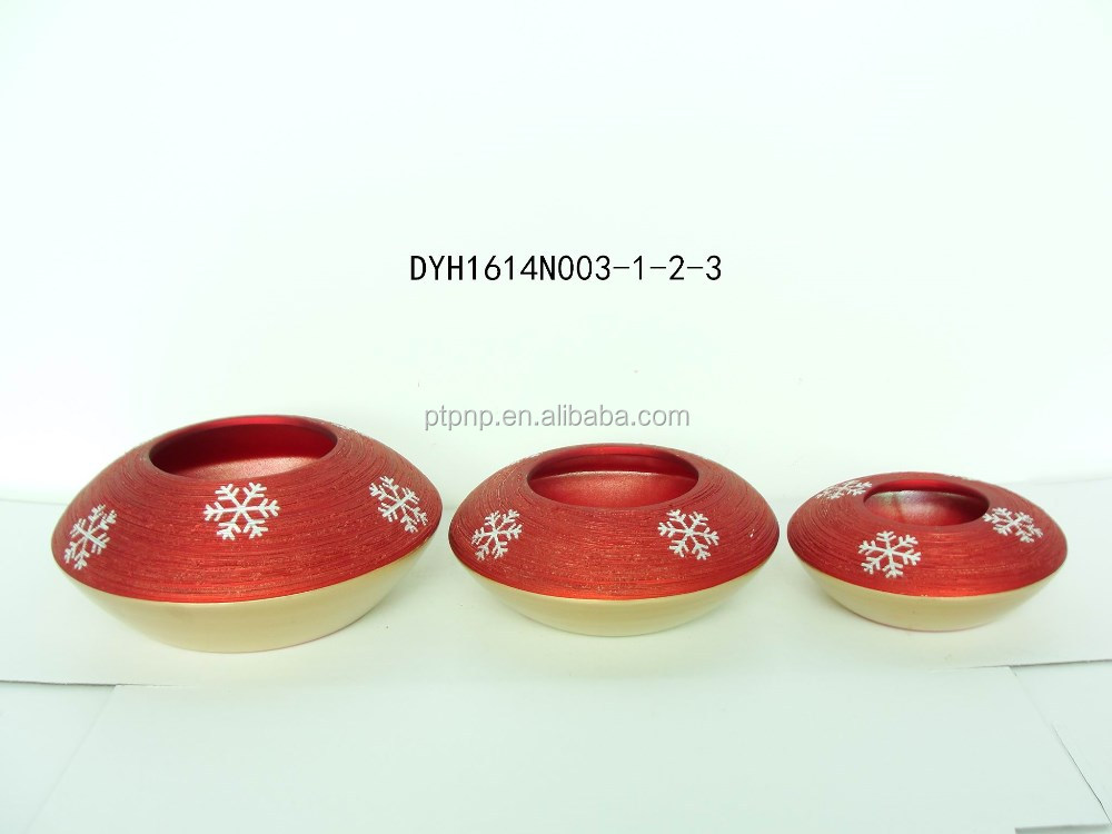 Hot sell ceramic flower pot for christmas deco Xmas terra cotta