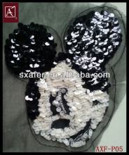 sew on fashion Mickey Mouse sequin patch