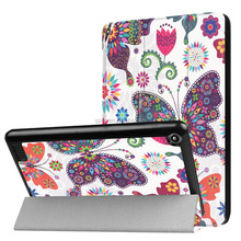 PU leather and flip design protective cover case for Kindle fire 7 2017