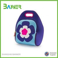 Flower fashion design make fabric lunch bag