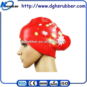 animal print silicone swimming cap