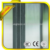 Tempered clear glass bi-fold window with aluminum frame