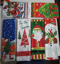 custom design transfer print Christmas microfiber kitchen towel & tea towel
