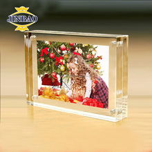 JINBAO Innovative design best sell packed two sides digital acrylic photo frame