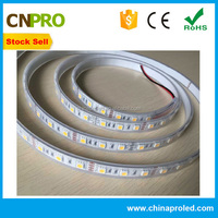 stock sell high lumen 5050 smd led strip light with silicon tube ip65 ww/w/r/g/b/y ce rohs