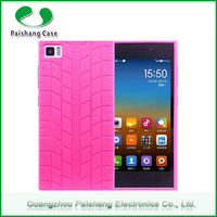 Durable shockproof 6 colors TPU Tire Pattern finish cell phone back case cover for xiaomi mi3