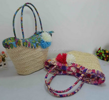 2015 summer hot style girl's favorite hand bags women straw beach bags low moq