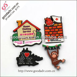 2014 promotional Christmas gifts fancy soft pvc rubber fridge magnet