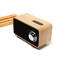 wooden rectangle shape mobile wireless speaker with fm radio usb port