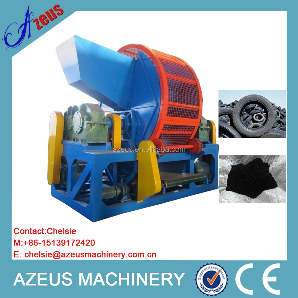 AZS560D 1000kg/h capacity tire crushing machine for sale