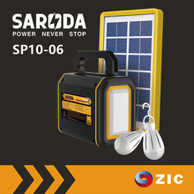SARODA mini home solar lighting system with Solar Panel 4V 6Ah portable solar power kit with mobile charger