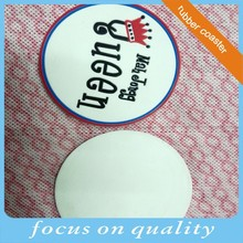 high quality micro injection customized Mah Jongg Qeen design soft rubber 3D cup coaster with rim