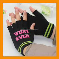 Acrylic Knit Fingerless Glove with Customized Private Logo