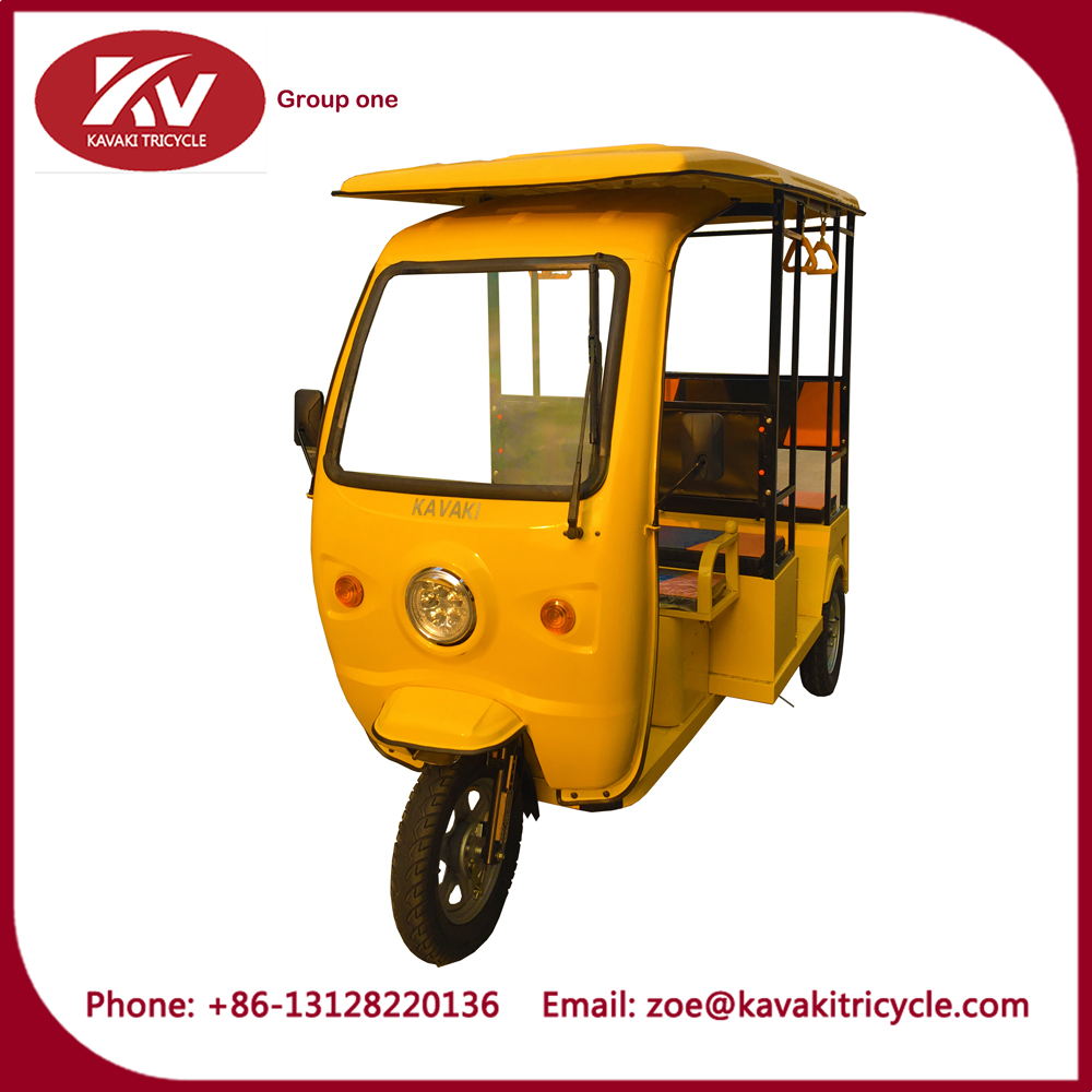 KAVAKI 1000W Bajaj Moto Taxi/three Wheel Motorcycle With drum Brake