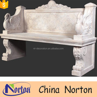 Wonderful hand carved marble park bench NTMF-B223A