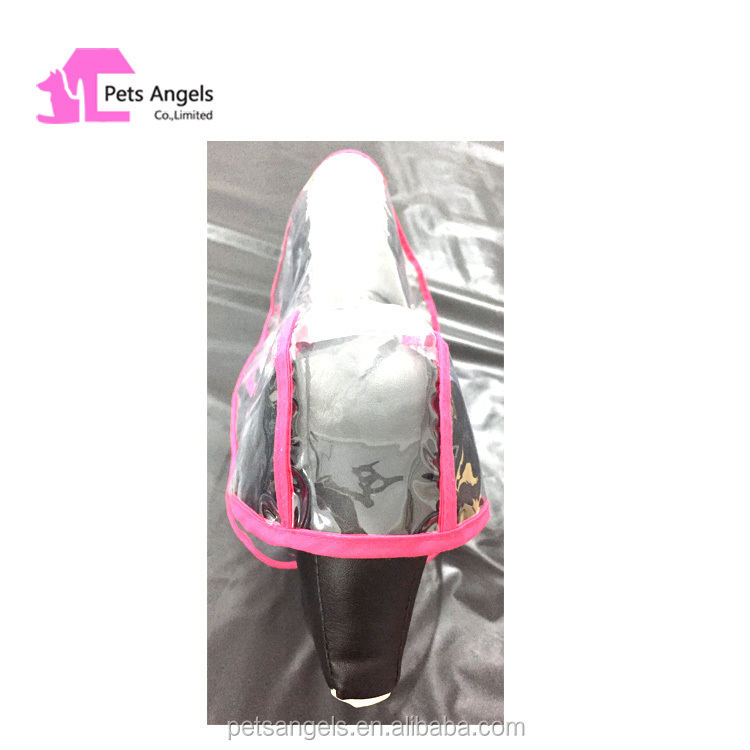 Made in China Popular Transparent EVA clear PVC plactic Pet Dog Raincoat to protect dog