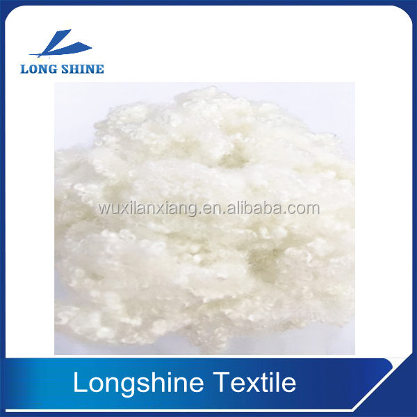 Hollow conjugated siliconized polyester staple fiber filling material toy filling fiber