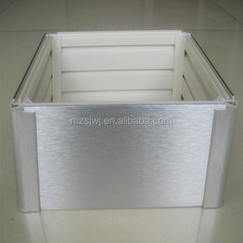 Brushed aluminum plastic kitchen cabinet baseboard buy for Brushed aluminum kitchen cabinets