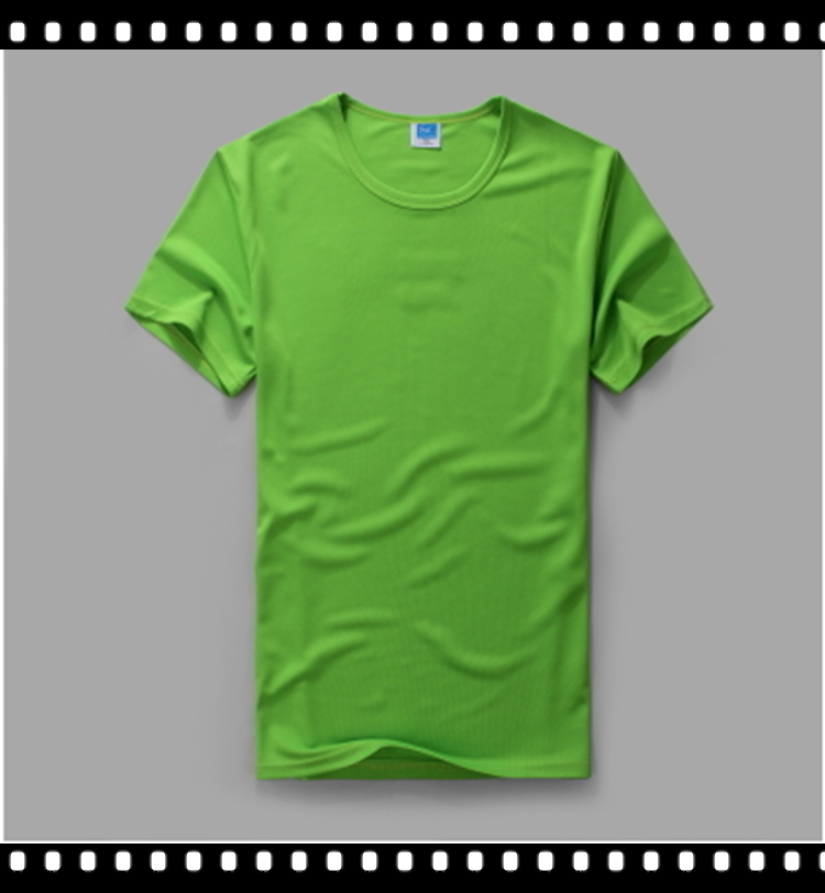 Round Neck Fitted Design Green T Shirt For Men