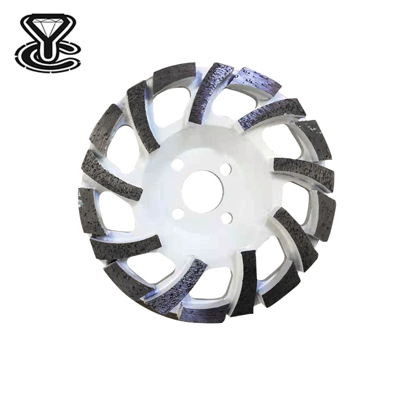 5,6,7 Inch High Frequency Welding diamond cup wheel L Type Segment Diamond Grinding Wheel