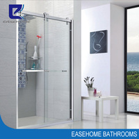 new style stainless steel hanging sliding bath shower screen
