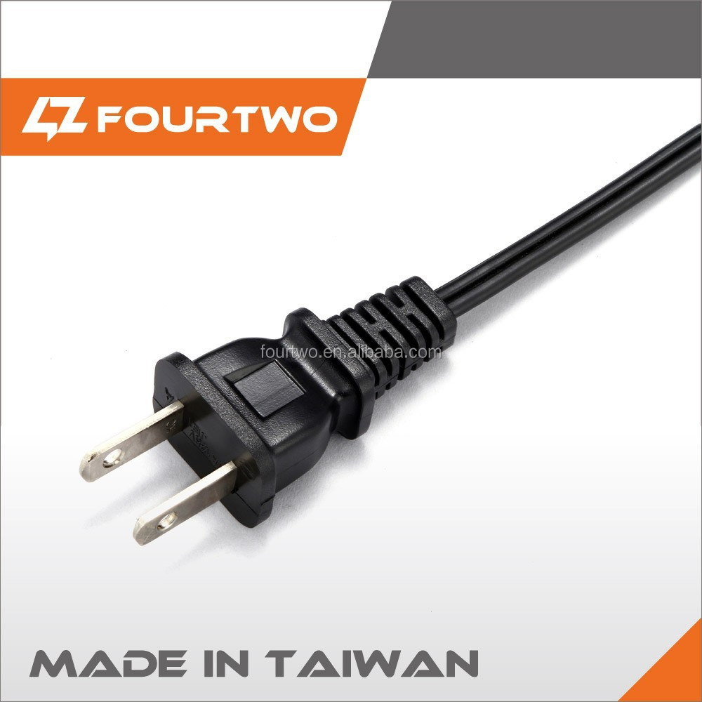 NISPT-2 18-16AWG 2pin Universal UL Power Cord
