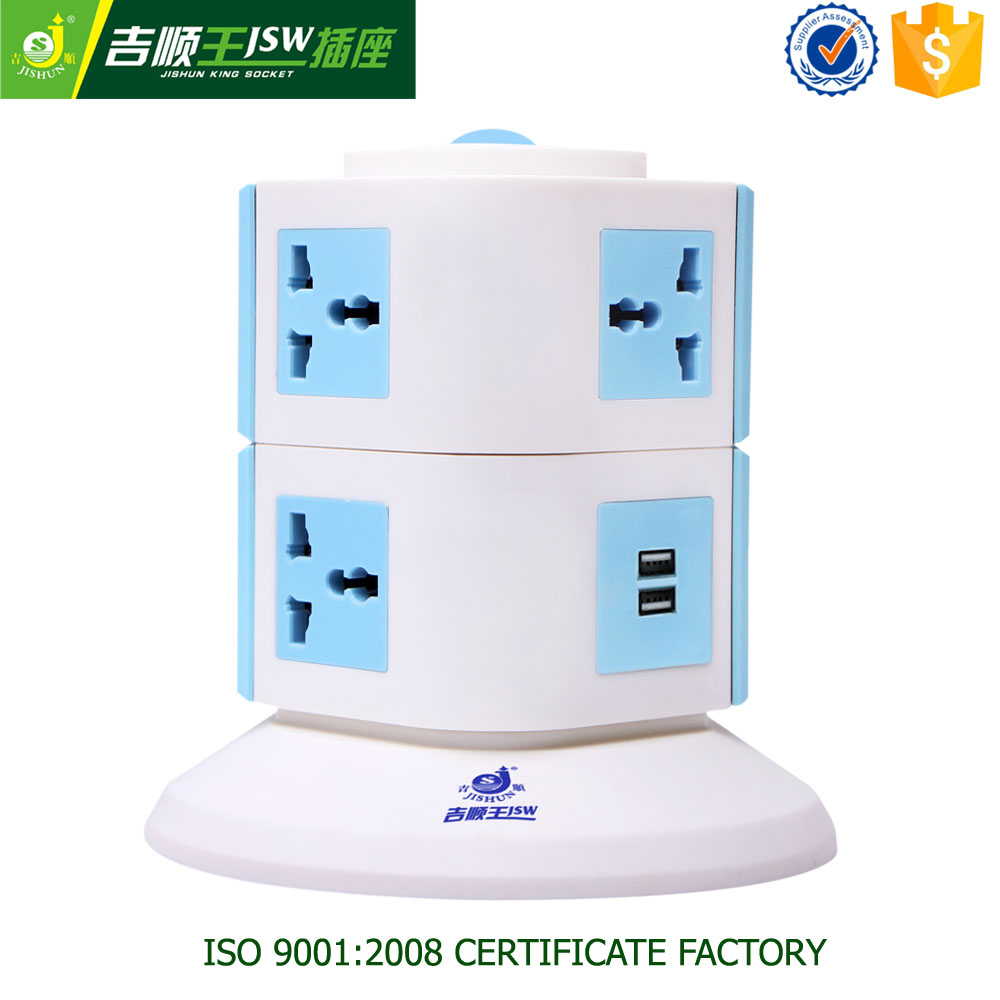 12 Amp six fill -in vertical smart strip,socket pcb esata male connector,socket factory