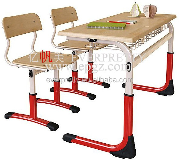 School Furniture, Doube Desk and Chair, Cheap Desk and Chair