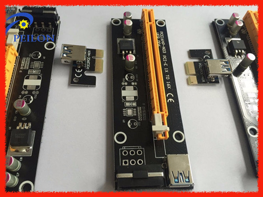 4PIN PCI-E Molex Risers with Power Supply PCIE 1X to 16X +USB 3.0 Extender Cable Sata to IDE for Bitcoin Litecoin Miner