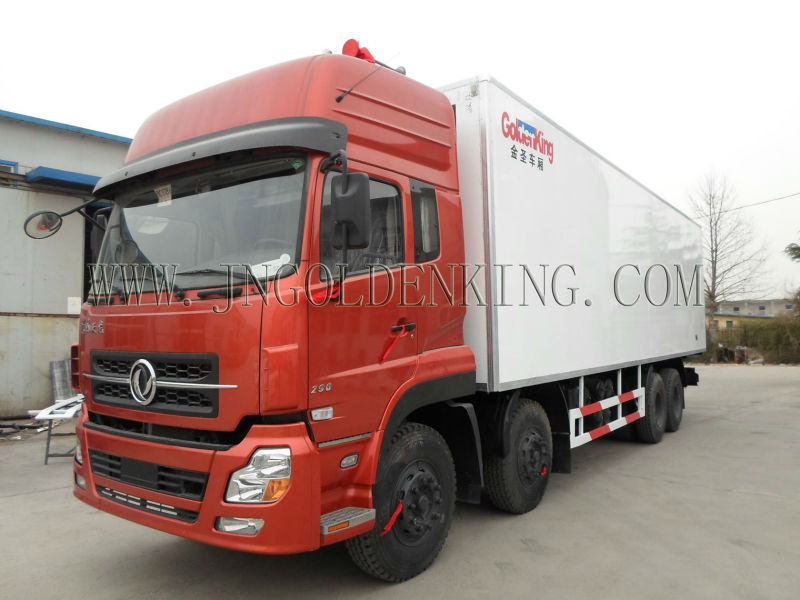freezer truck body for ice cream, seafood,vegetables,meat cargo transportation