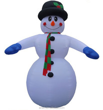 Cheap shaking singing Christmas inflatable snowman