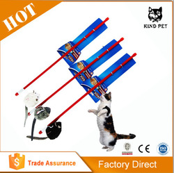 Cat Teaser Stick Soft Fur Head Cat Toy Pet Cat Toys Wholesale