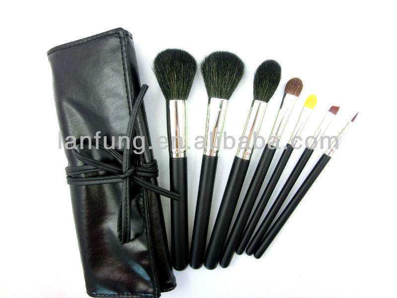Hot make up brush set with PU leather bag , Powder brush , Travel brush set