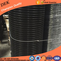 Black pvc coated welded chicken cage wire mesh roll