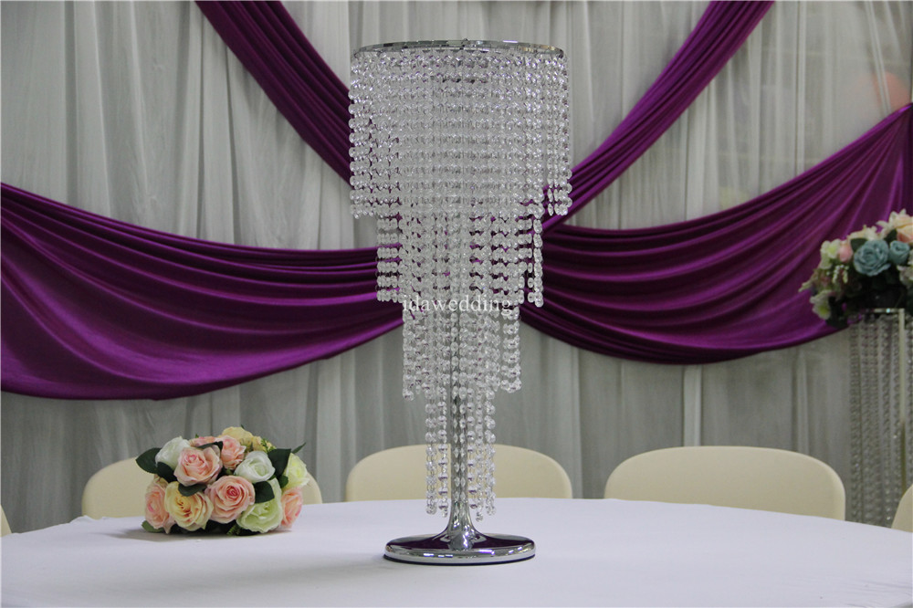 Crystal wedding centerpiece stands wholesale tall