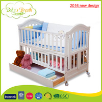 WBC-10A 2016 new design adult baby wooden swing bed rail protection with seat sofa function