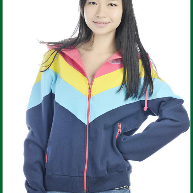 womens royal blue short sleeve hoody 2 pieces hoodies set with hood & pocket plain hoody set