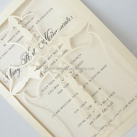 Christening and Muslin Party Nice Custom Laser Cut Cross Invitation Card