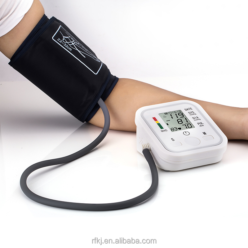 Arm type no voice blood pressure monitor bp apparatus