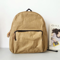 2017 hot sale recycle washable kraft paper backpack travel backpack