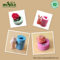 Zibo Nicole Factory Large Rose Soap Mold 3D Silicone Rubber Soap Mould R0373