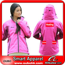 Brand name foldable sports jacket with high-tech electric heating system battery heated clothing warm OUBOHK