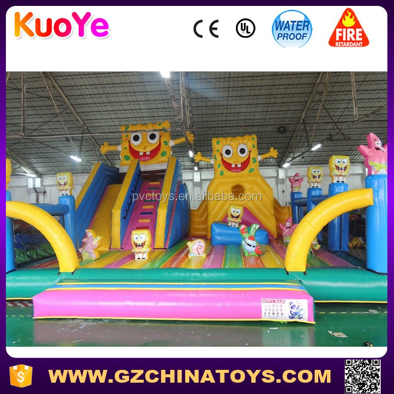 jumper castle inflatable SpongeBob trampoline playground slide playground