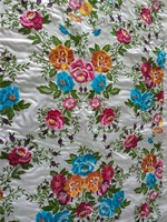 Latest fashion colourful &floral pattern design embroidery fabric brocade for Kaftan