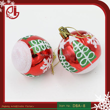 Christmas Decoration Craft Supplies Matte Christmas Balls Powdered Paint Blended Christmas Balls Ornaments 6 CM Christmas Ball